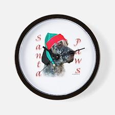 Santa Paws English Setter Wall Clock