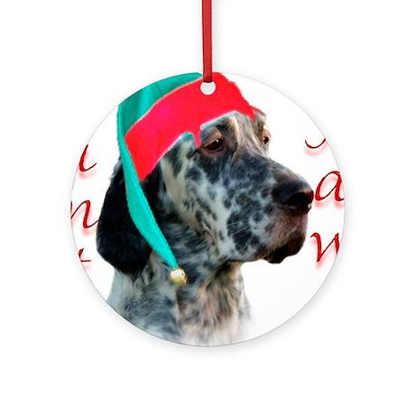 Santa Paws English Setter Ornament (Round)