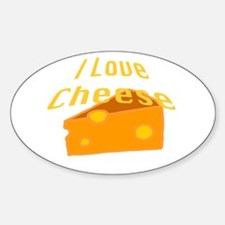 I Love Cheese Decal