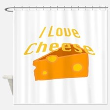 I Love Cheese Shower Curtain
