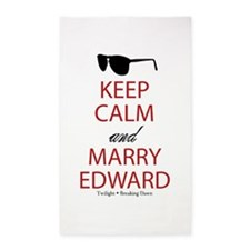Keep Calm Marry Edward 3'x5' Area Rug