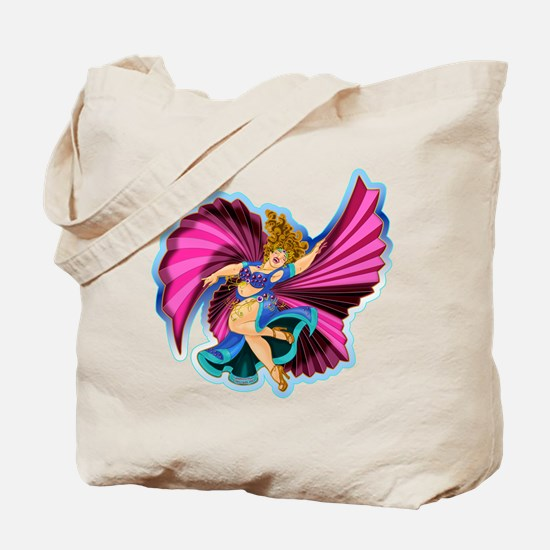 Big-n-Beautiful Winged dancer fair complexion Tote