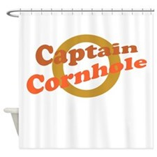 Captain Cornhole Shower Curtain