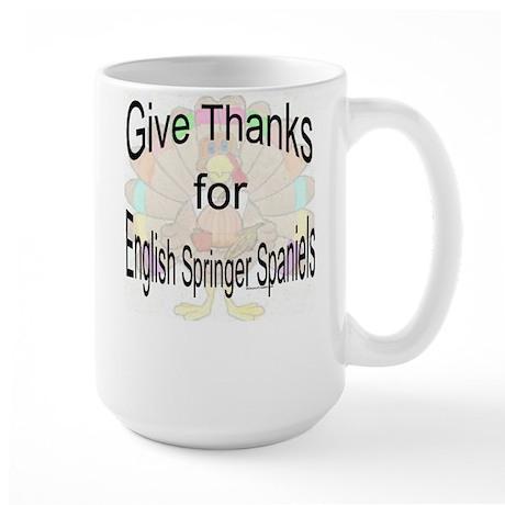 Thanks for Springer Spaniel Large Mug