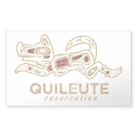 Quileute Reservation Totem Sticker (Rectangle)