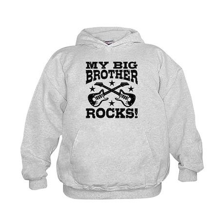 My Big Brother Rocks Kids Hoodie