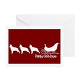 German shepherd dog christmas Greeting Cards (10 Pack)