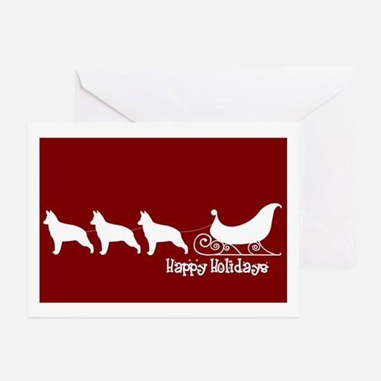 "G Shepherd ""Sleigh"" Greeting Cards (Pk of 10)"
