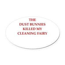 housekeeping Oval Car Magnet