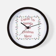 Toy Spaniel Merry Wall Clock