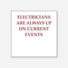 """electrician Square Sticker 3"""" x 3"""""""