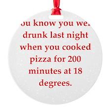 drunk Ornament