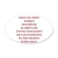 turkey shoot Oval Car Magnet