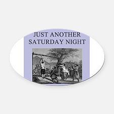 funny sadism joke gifts t-shirts Oval Car Magnet
