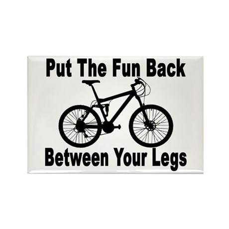 Fun Between Your Legs Rectangle Magnet
