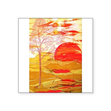 "Autumn Afternoon Square Sticker 3"" x 3"""