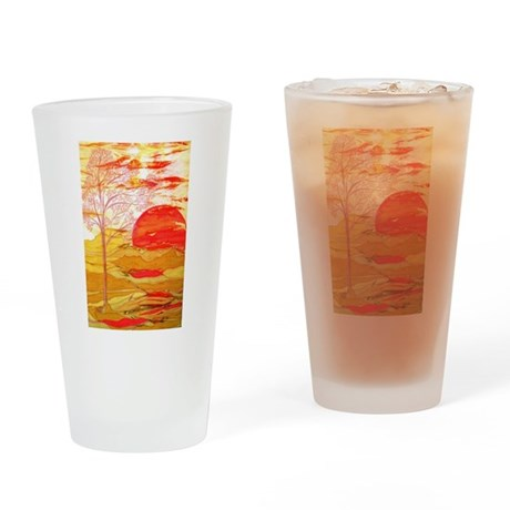 Autumn Afternoon Drinking Glass