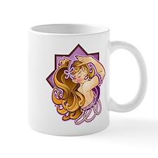 Belly Dancer, Rhinestone Bow, Blonde/Purple Mug