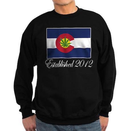 Colorado Cannabis Flag 2012 Sweatshirt (dark)