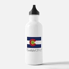 Colorado Cannabis Flag 2012 Water Bottle