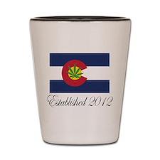 Colorado Cannabis Flag 2012 Shot Glass