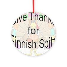 Thanks for Finnish Spitz Ornament (Round)