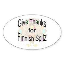 Thanks for Finnish Spitz Oval Decal