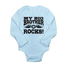 My Big Brother Rocks Long Sleeve Infant Bodysuit