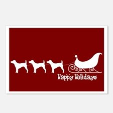 """Jack Russell """"Sleigh"""" Postcards (Package of 8)"""