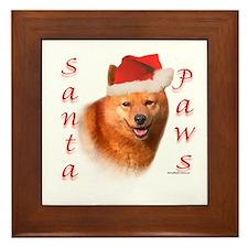 Spitz Paws Framed Tile