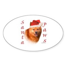 Spitz Paws Oval Decal