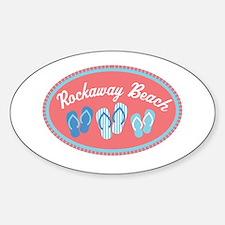 Rockaway Beach Sandal Badge Decal