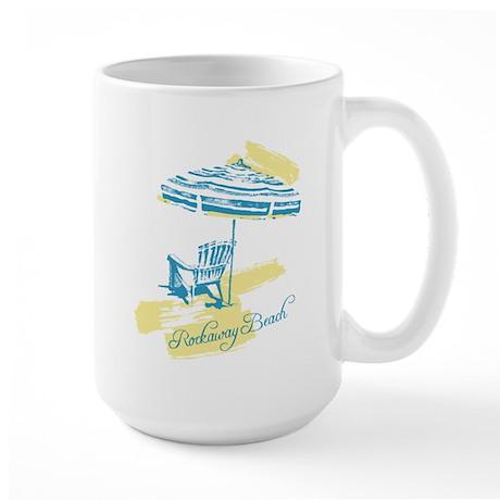 Serenity Rockaway Beach Large Mug
