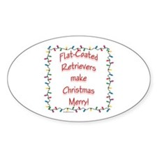 Merry Flat Coat Oval Decal