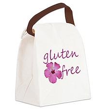 gluten-free hibiscus Canvas Lunch Bag