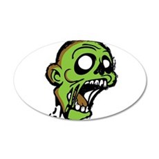 Zombie Head Wall Sticker