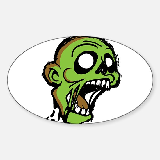 Zombie Head Sticker (Oval)