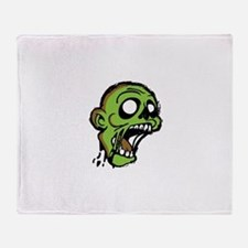 Zombie Head Throw Blanket