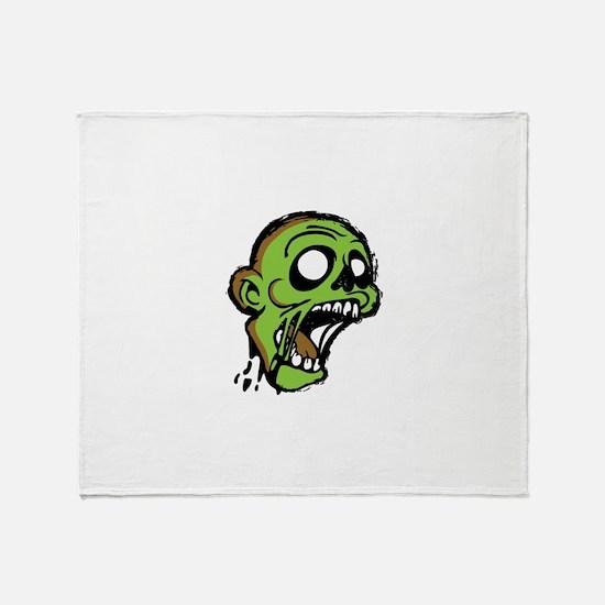 Zombie Head Throw Blanket