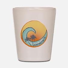 Huntington Beach Sunset Crest Shot Glass
