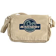 Huntington State Blue Wave Badge Messenger Bag