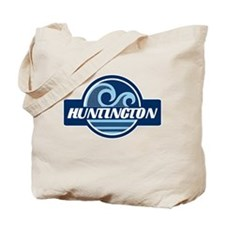 Huntington State Blue Wave Badge Tote Bag