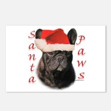 Santa Paws French Bulldog Postcards (Package of 8)