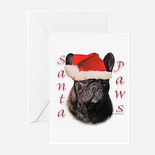 Santa Paws French Bulldog Greeting Cards (Package
