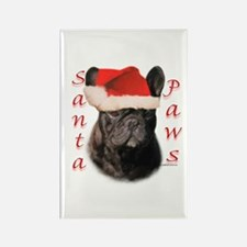 Santa Paws French Bulldog Rectangle Magnet