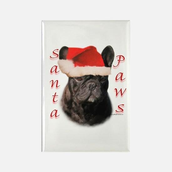 Santa Paws French Bulldog Rectangle Magnet