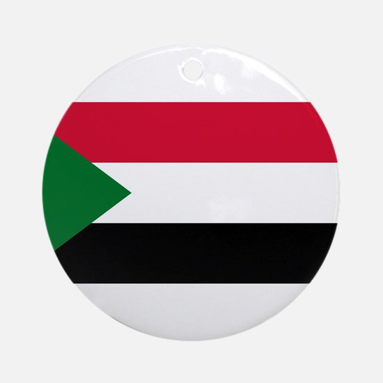Sudan - National Flag - Current Round Ornament