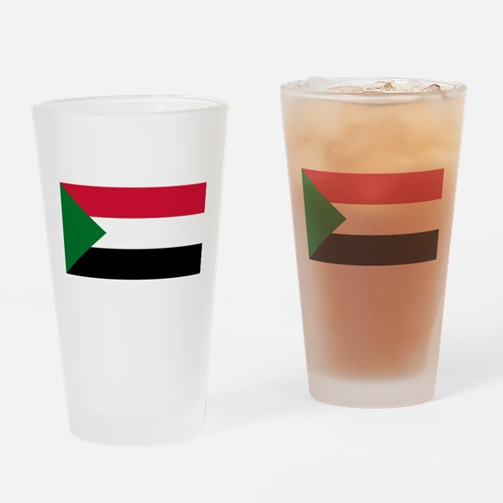 Sudan - National Flag - Current Drinking Glass