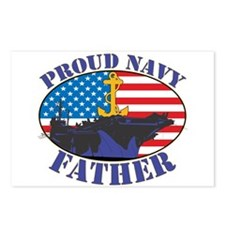 Proud Navy Father Postcards (Package of 8)