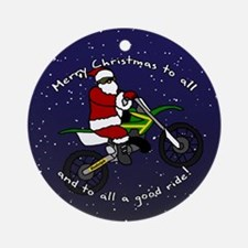 Dirt Bike Santa Christmas Ornament